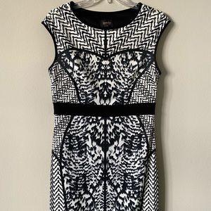 Laundry Black & White Pattern Dress